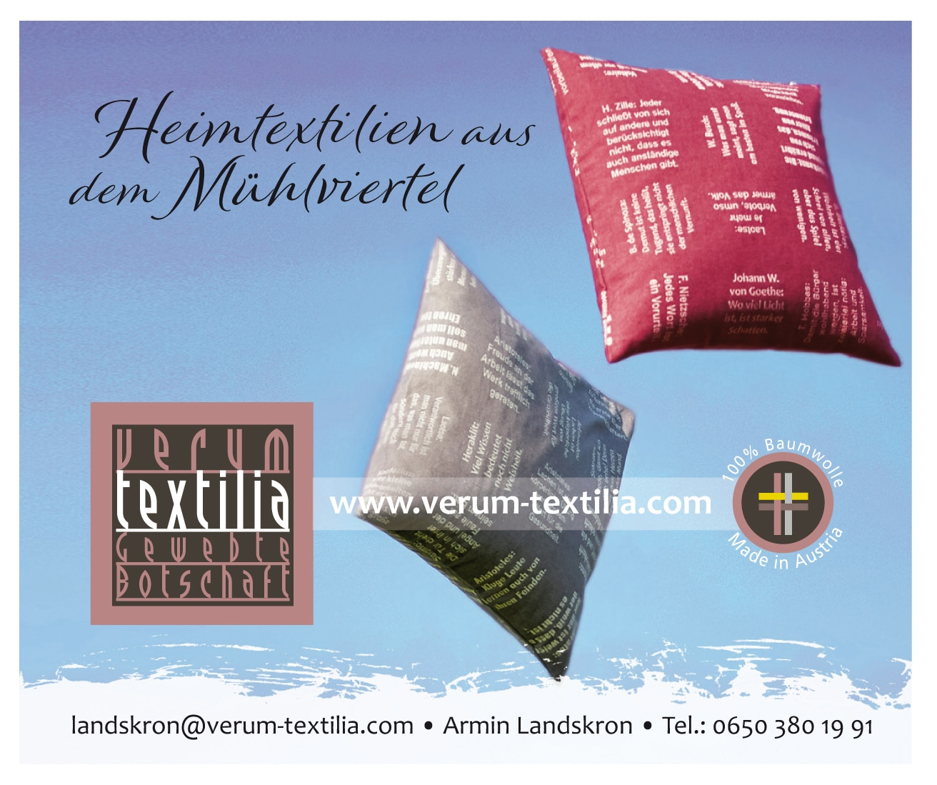 verum textilia Heimtextilien - Made in Austria