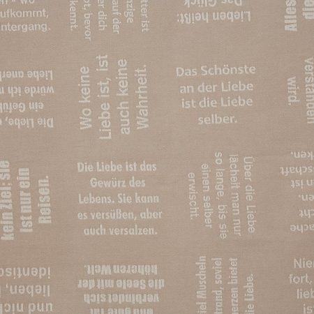 Meterware | Stoffe | gewebte Zitate von verum textilia