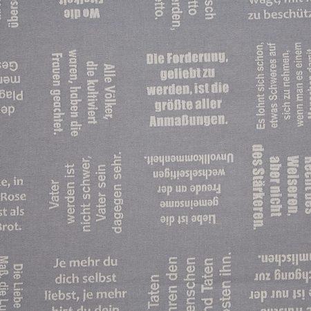 Meterware | Stoffe mit eingewebten Zitaten von verum textilia