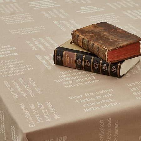 Tischtücher | gewebte Schrift | verum textilia