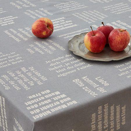 Tischtücher | gewebte Sprüche der Liebe | verum textilia