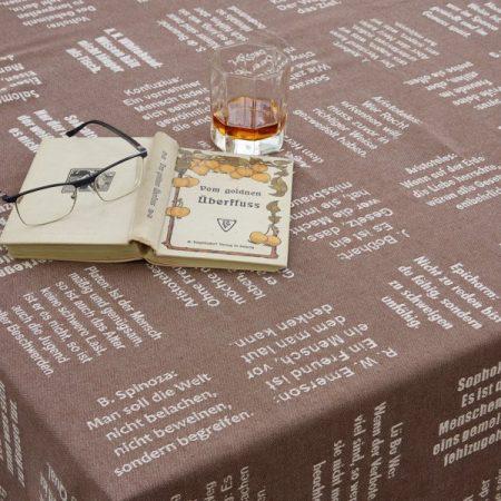 Tischtuch | gewebte Zitate | alle Größen | verum textilia