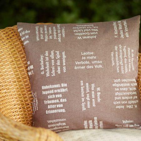 Kissenbezug | Zitate Philosophen | verum textilia